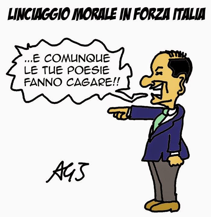 Bondi, forza italia, berlusconi, satira, vignetta.