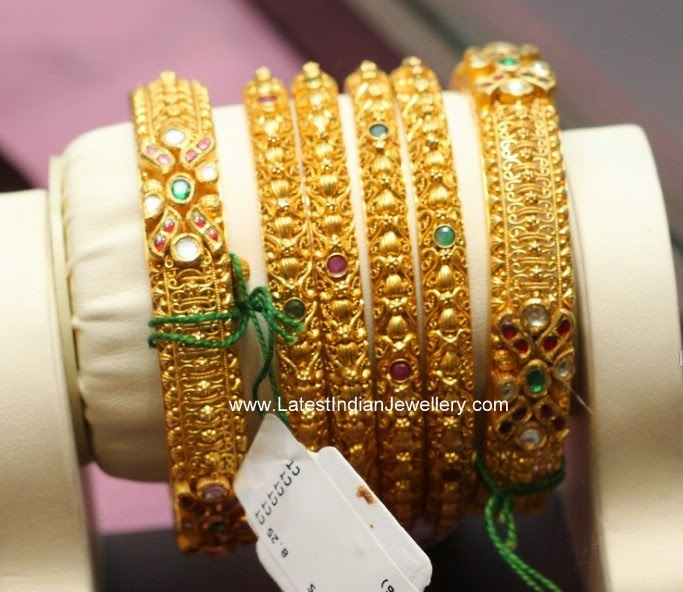 latest Designer Gold Bangles Set