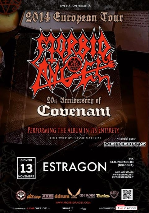 MORBID ANGEL + Methedras  13.11.2014 – Estragon – Bologna