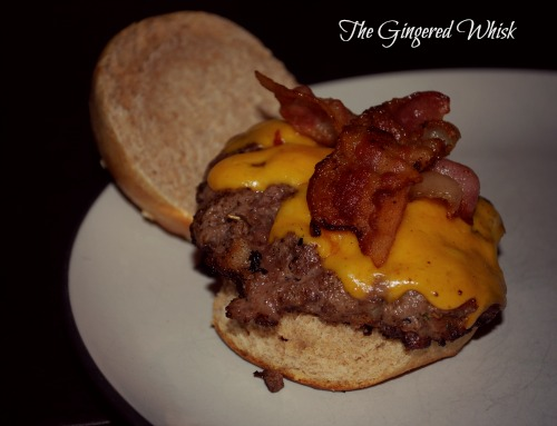 Bacon Cheese Venison Burgers - The Gingered Whisk