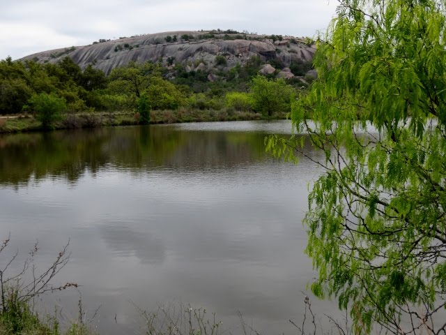 Moss Lake and Enchanted Rock, Texas, Sunday, March 27, 2016