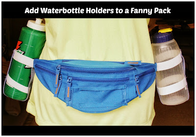 how to add water bottle holders to a fanny pack