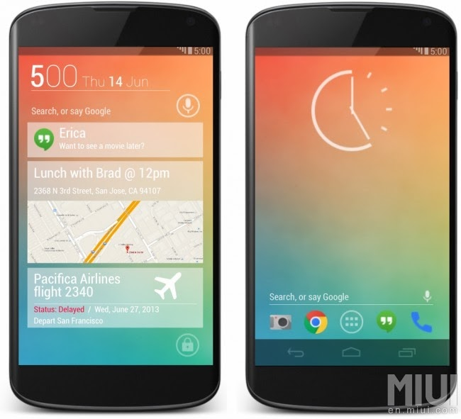 Two-Phones-running-Android-Key-Lime-Pie-Concept-User-Interface