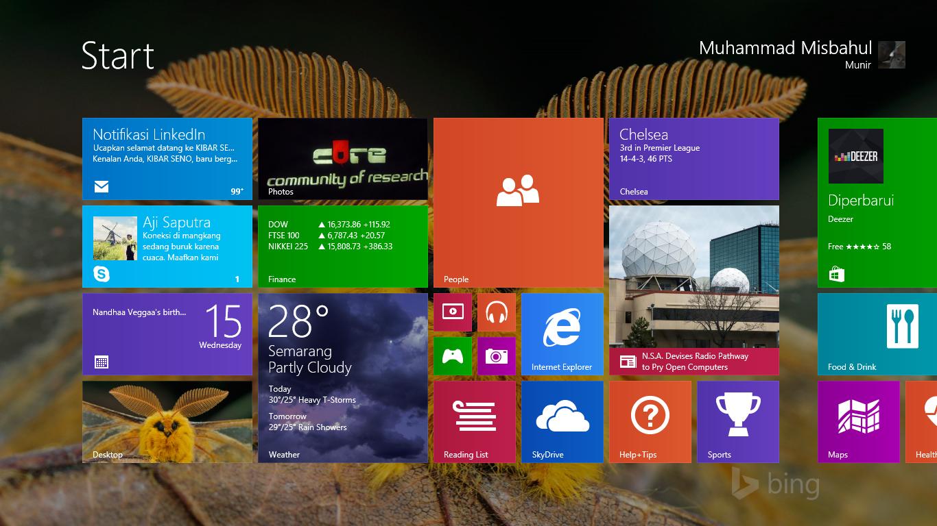 Cara Gampang Mengganti Background Start Screen Windows 8