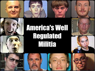 Picture of American mass murderers captioned