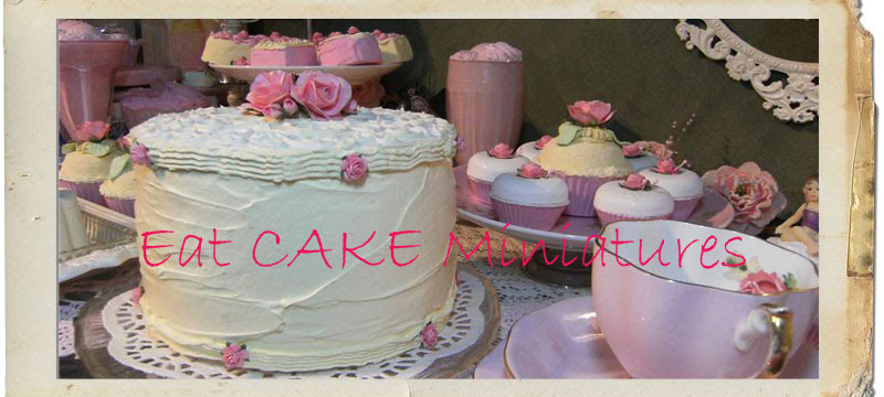 Eat Cake Miniatures .. Miniature baking and Dollhouse collectibles