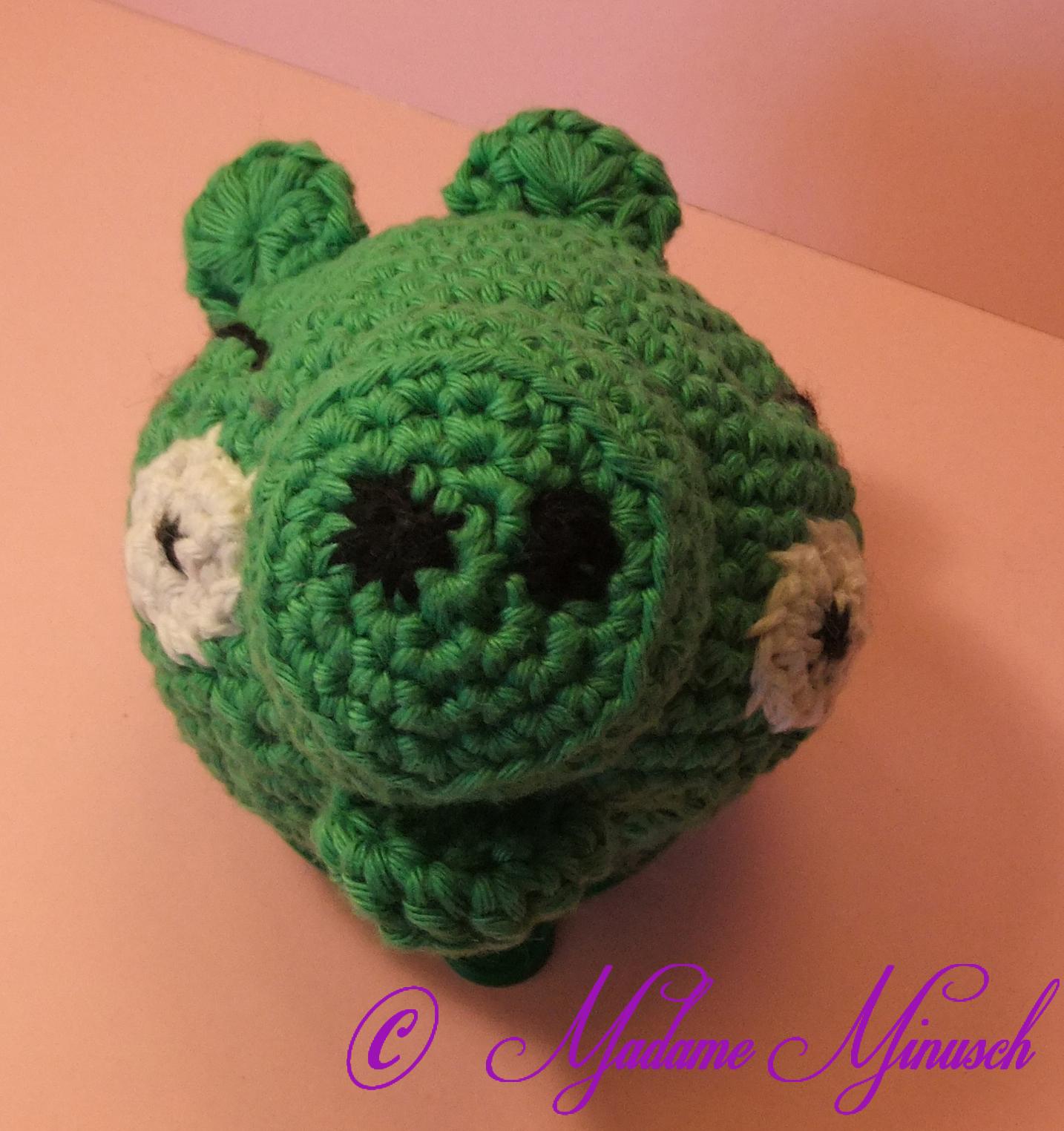Amigurumi Green Pig : Madame Minuschs: [Amigurumi]