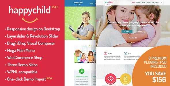 Free Download HappyChild V4.1 Kindergarten WordPress Theme