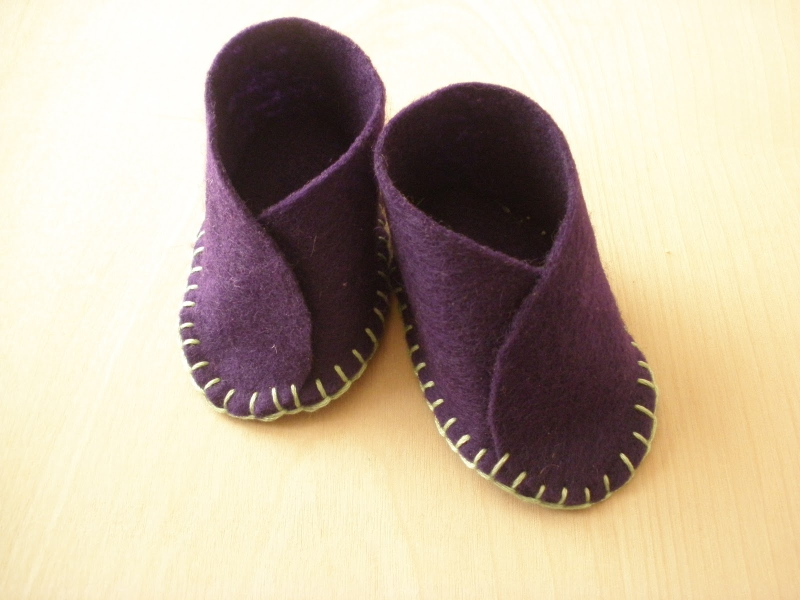 A Better Way Hand stitched Felt Baby Shoes
