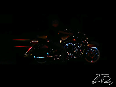 Motorcycle motorbike bike harley honda wind ding dingers convention fort wayne in Indiana light lights lighted red
