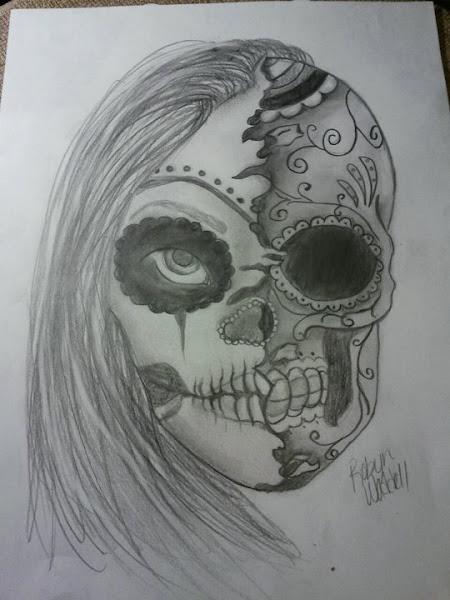 sugar skull girl drawing tumblr coloringsnet