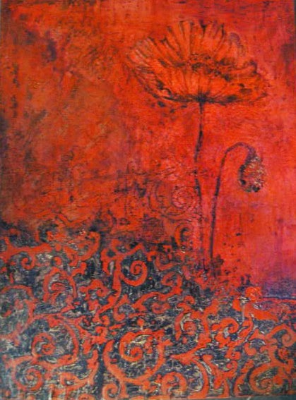 meaning red poppy art Margaret Ryall