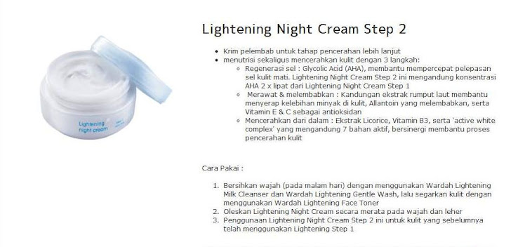 Lightening Night Cream Step 2 = $15