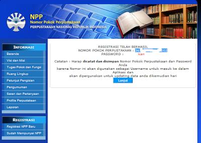 Nomor Pokok Perpustakaan (NPP) SMP Islam Al fajar
