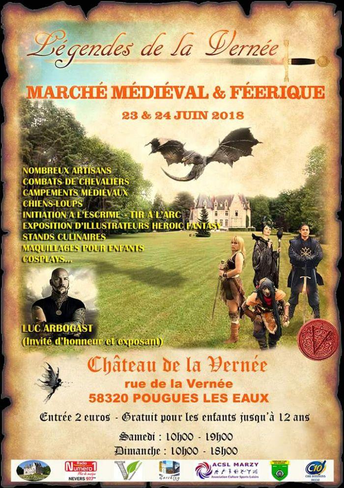 Marché médiéval et Féerique le 23 et 24 juin à Pougues les Eaux