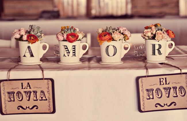 Decoración con tazas vintage decoración, flores, ideas originales ...