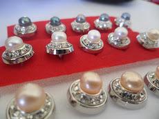 Butang Baju Pearl +Diamond