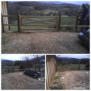 The gate that will lead into the fenced area.