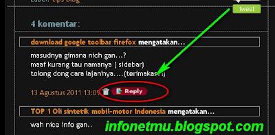 Cara membuat tombol Reply pada komentar blog