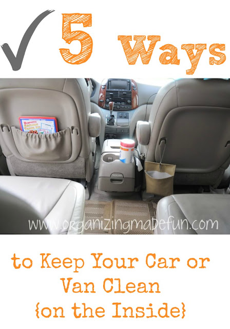 5 Ways to Keep your car clean :: OrganizingMadeFun.com