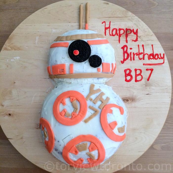 Star Wars Inspired BB8 Birthday Cake