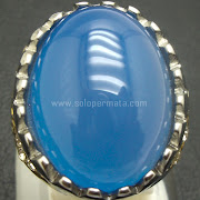 Cincin Batu Permata Blue Calchedony - SP762
