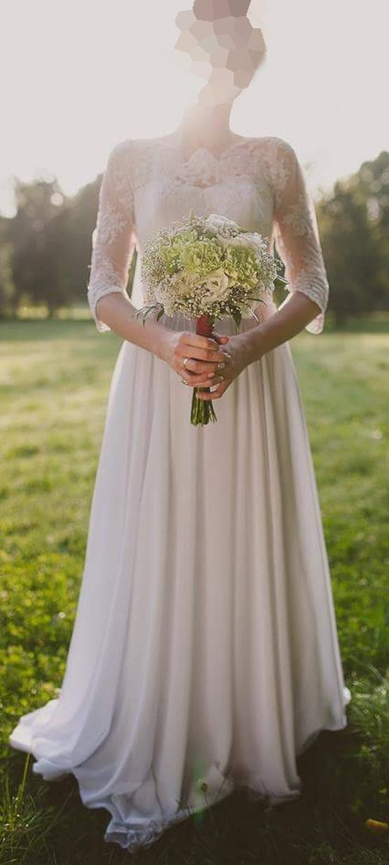 Suknie ślubne Vestido Suknia ślubna O Kroju Litery A W Stylu