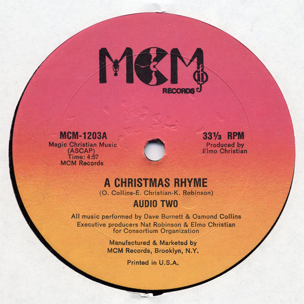 Audio Two ‎– A Christmas Rhyme / Audio Two's Jam (1985) (VLS) (192 kbps)