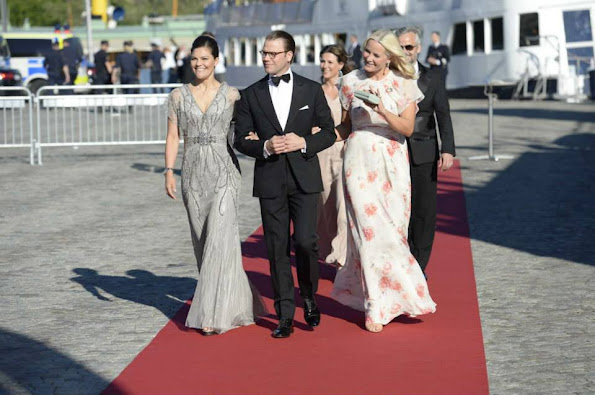 King Carl Gustaf of Sweden and Queen Silvia of Sweden, Prince Carl Philip of Sweden and Sofia Hellqvist, Crown Princess Victoria of Sweden, Prince Daniel of Sweden and Princess Mette-Marit of Norway, Sara Hellqvist and Lina Hellqvist, Marie Hellqvist and Erik Marie Hellqvist, Princess Brigitta of Sweden