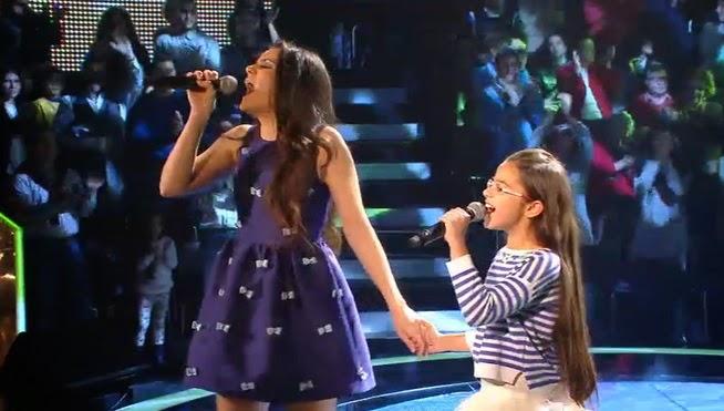 Johana y Vanesa cantan Let it Go de la película Frozen