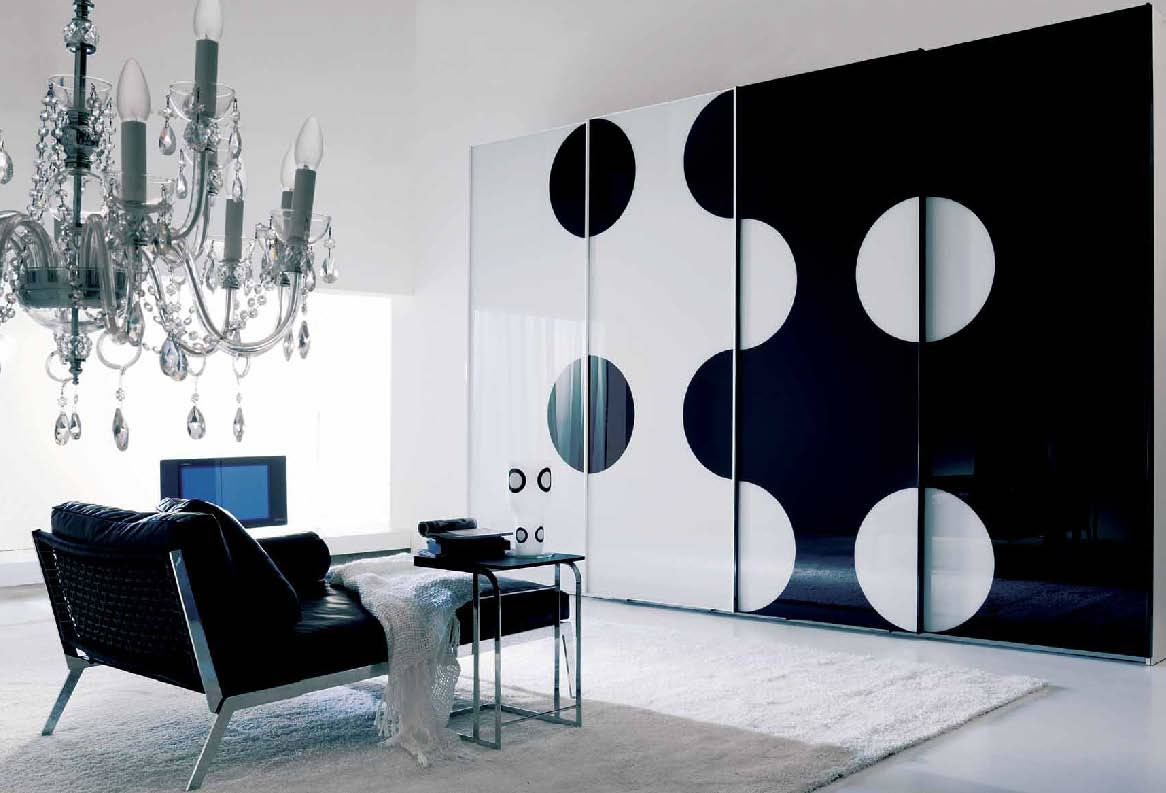 Home interior designs bedroom cupboard designs for Modern black and white interior design