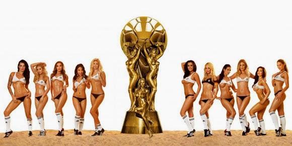 Model-Model Playboy Dukung Tim-tim Piala Dunia 2014