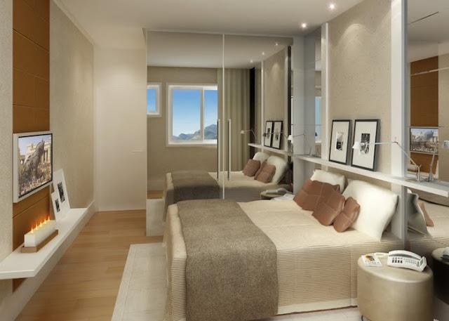 Decoração de quarto para casal: cores neutras