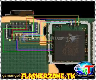 Nokia 2700c lcd ways  jumper diagram hardware solution