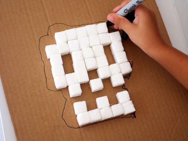 Sugar Cube Sugar Skull Art