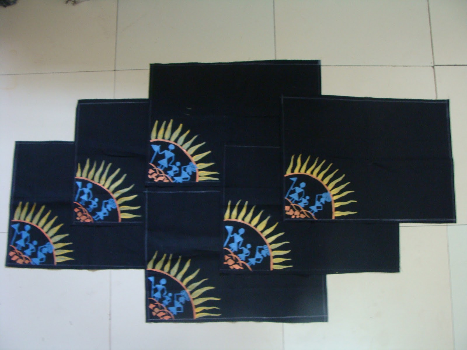Creative Sarees New Work Hand Made Dinning Table Mats