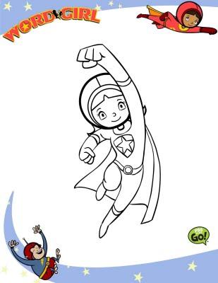 LAMINAS PARA COLOREAR - COLORING PAGES: Chica Super Sabia (word Girl ...