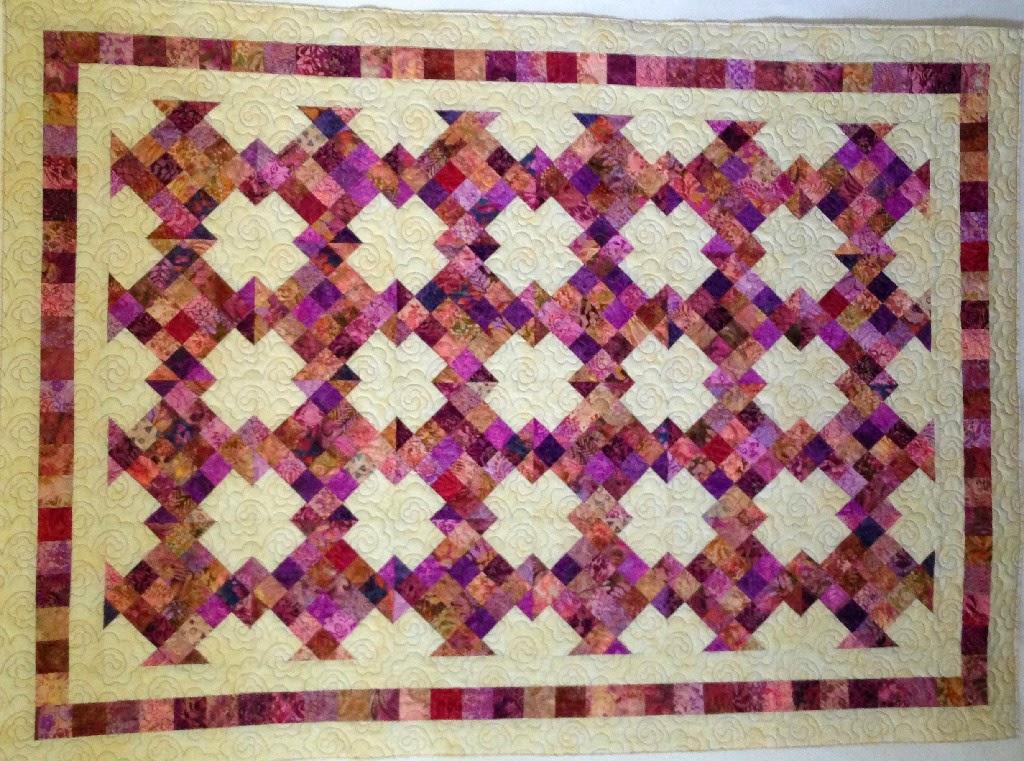 Aline Babin Scrappy Patchwork Baby Quilt
