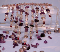 Mysticism (necklace): amethyst, Czech crystals, quartz, sterling silver :: All the Pretty Things