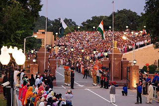 Wagah border India and Pakistan