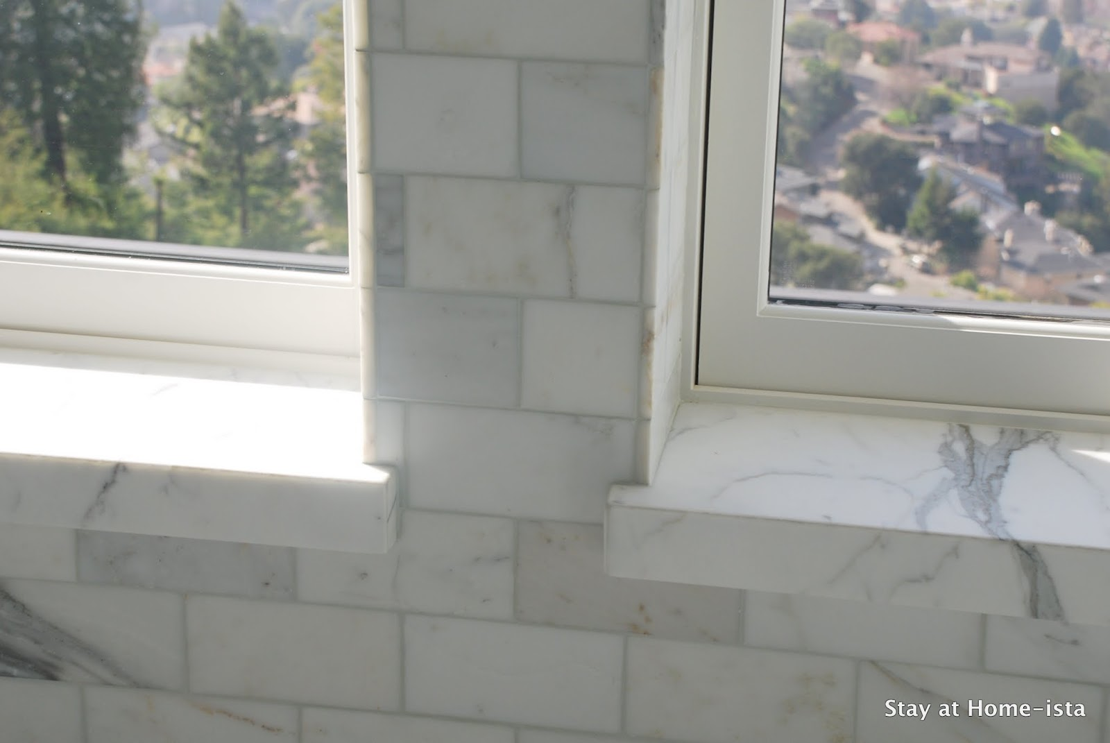 Beautiful The Tile Breaks Halfway Across The Bottom Of The Window So We Tiled