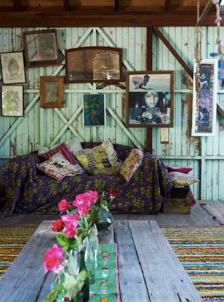 Dishfunctional designs create an eclectic gallery wall for Gypsy designs interior decorating