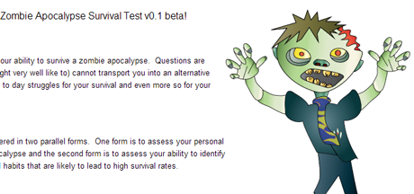 Zombie Apocalypse Survival Test – R-Powered (using Concerto)