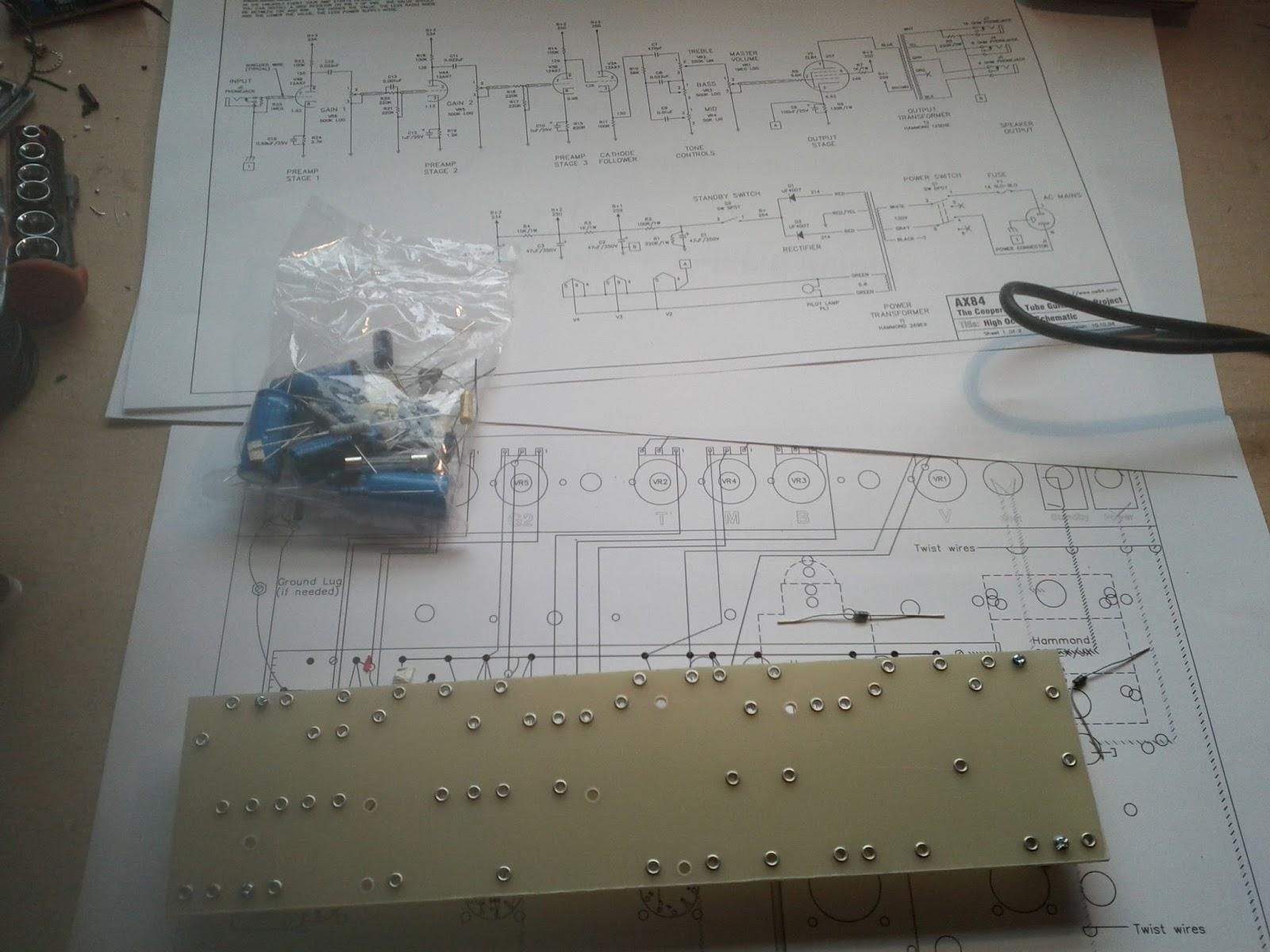 Soundular Electronics Ax84 Hi Octane Build Part 2 Circuit Board Eyelets Lonely Eyelet Parts Schematic Wiring Diagram