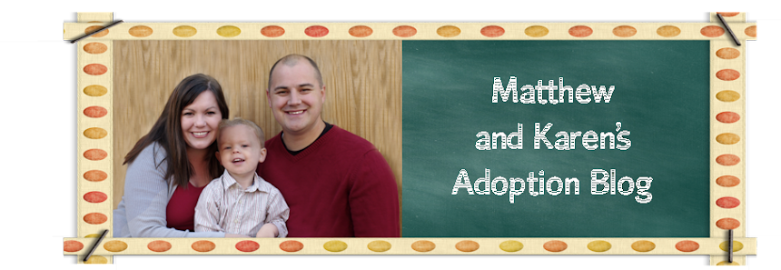 Matthew and Karen's Adoption Blog