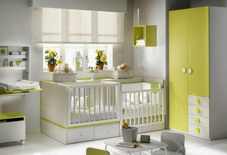 Dormitorio de bebes dormitorio para bebes gemelos cunas - Habitaciones para bebes gemelos ...