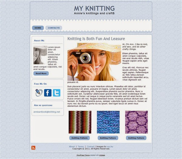 My Knitting - Free Wordpress Theme