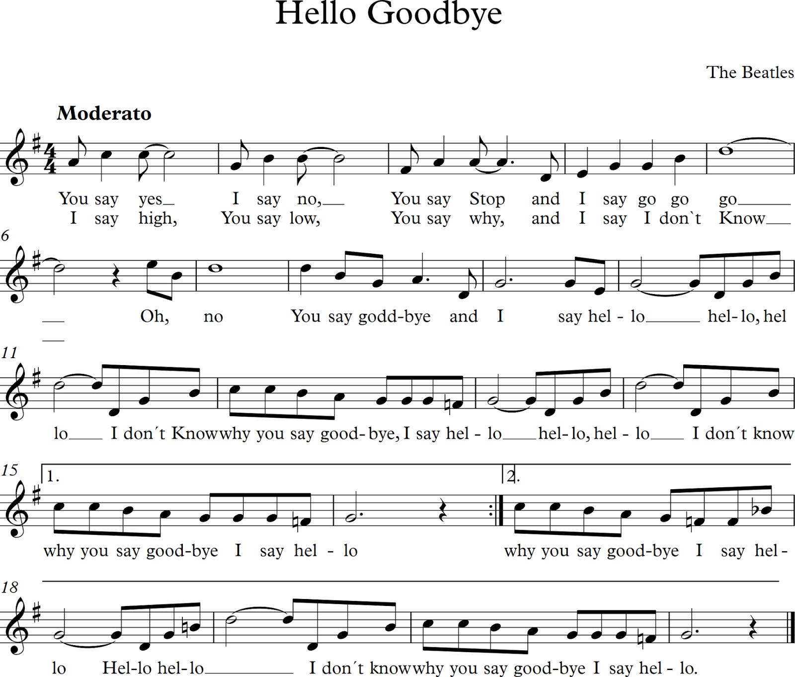 letra de la musica hello: