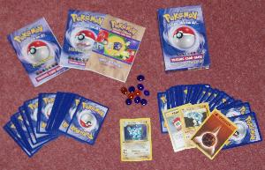 Pokémon Trading Card game starter set.