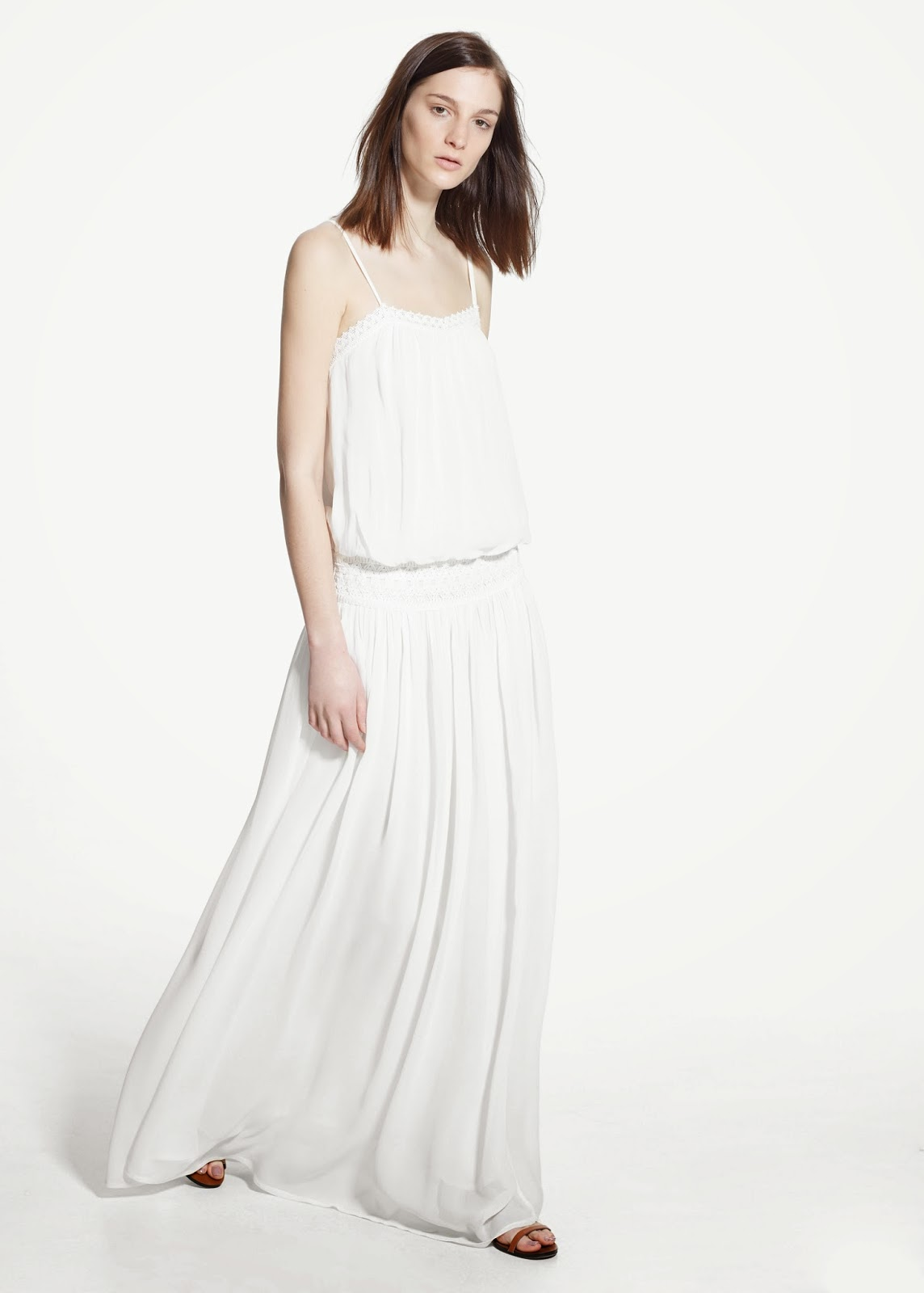 white mango maxi dress